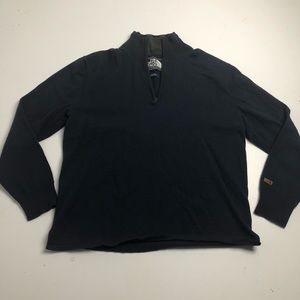 The North Face Blue Wool Quarter Zip Sweater